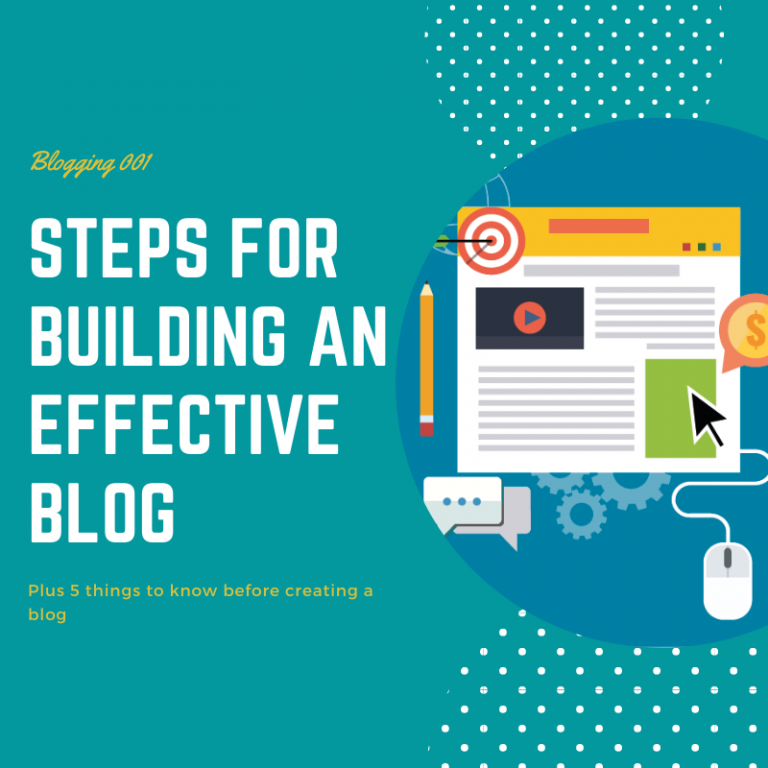 Compulsory Steps For Building An Effective Blog